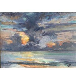 """Michaelann Bellerjeau """"Morning Glory"""" original oil on panel, framed, 8x6, MICB"""