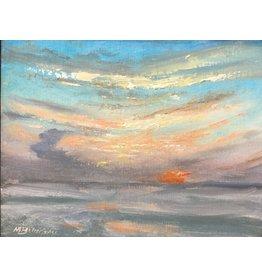 "Michaelann Bellerjeau ""Hazy Morning"" original oil on panel, framed, 9x7"", MICB"