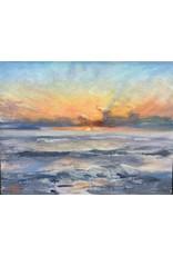 """Michaelann Bellerjeau """"Summer Morning"""" original oil on panel, framed, 9x7"""", MICB"""