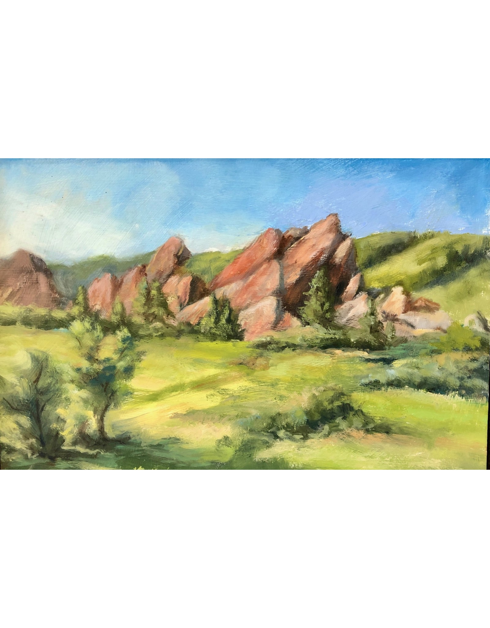 "Michaelann Bellerjeau ""Roxborough Rocks"", original oil on panel, framed, 12x8"", MICB"