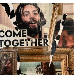 """Pam Maschal """"Come Together""""  collage on canvas, 6"""" sq, PAMM"""
