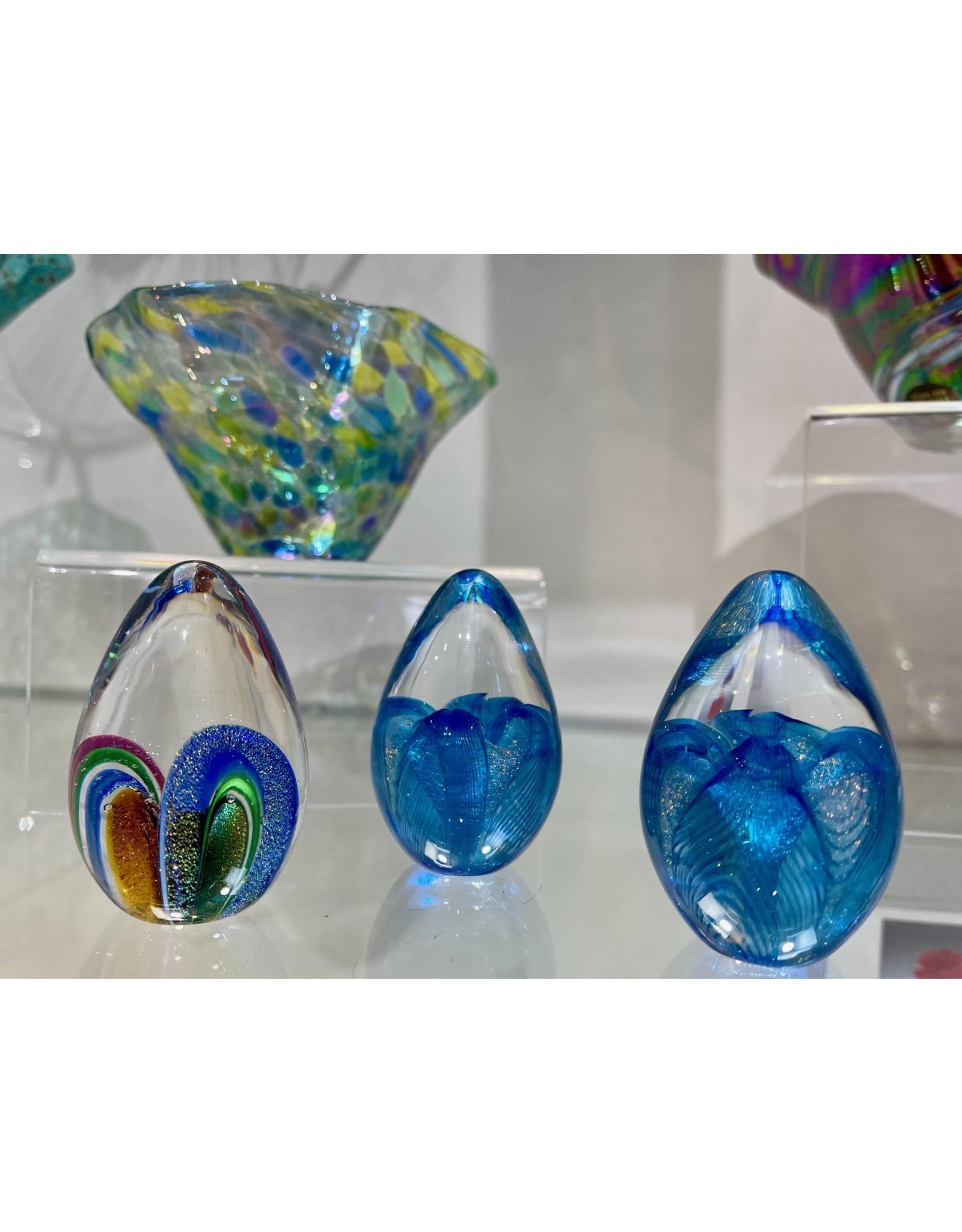 "Glass Eye Studio Dichroic Egg Paperweight, 2.5"", GLAS"