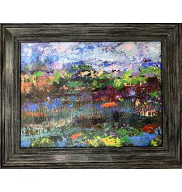 "Teresa Kay Reflections, acrylic on canvas, framed, 15x12"", TERK"