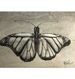 """Molly Pearce Butterfly, mixed media on panel, 17x11"""", MOLP"""