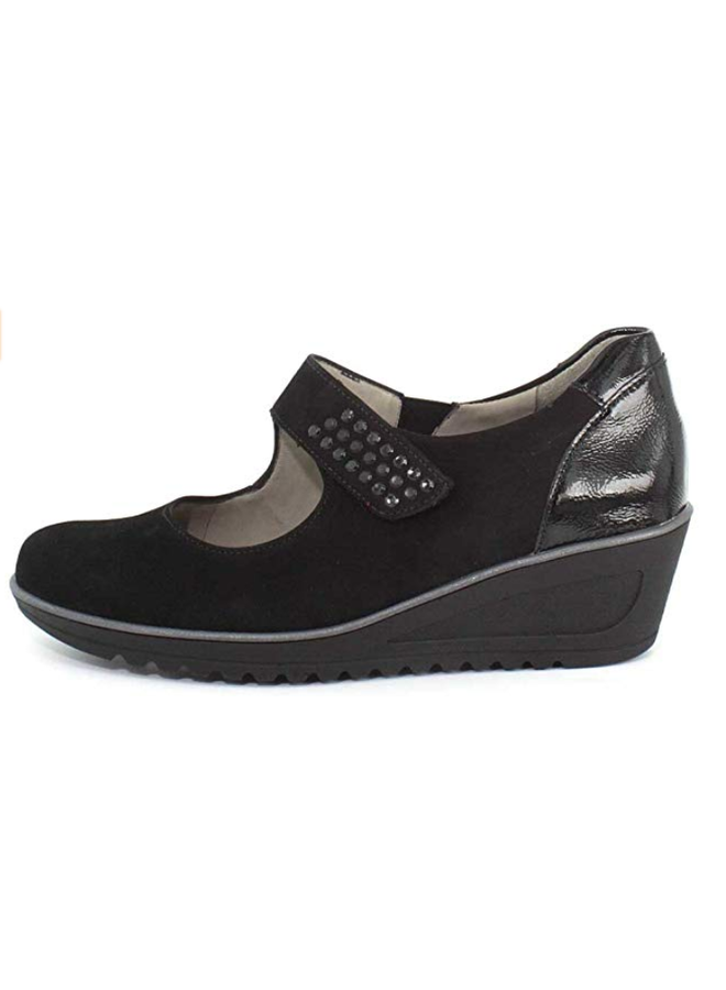 """Wedge 2"""" shoe with Velcro HELEN  46118"""