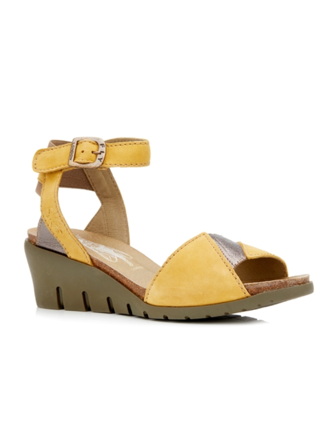Compensated Wedge Leather Sandal IMAT