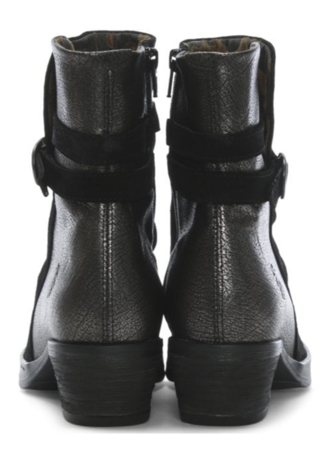 Lace Strap Leather Bootie CIMP