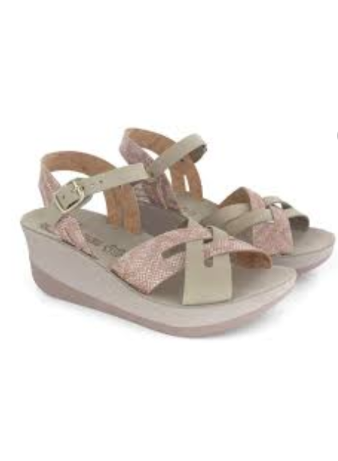 Crossover Leather Strap Wedge VALERIA
