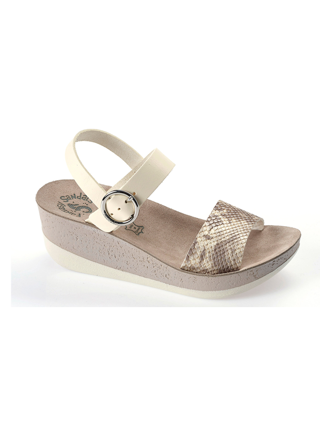 Soft Leather Strap Wedge BRIANA