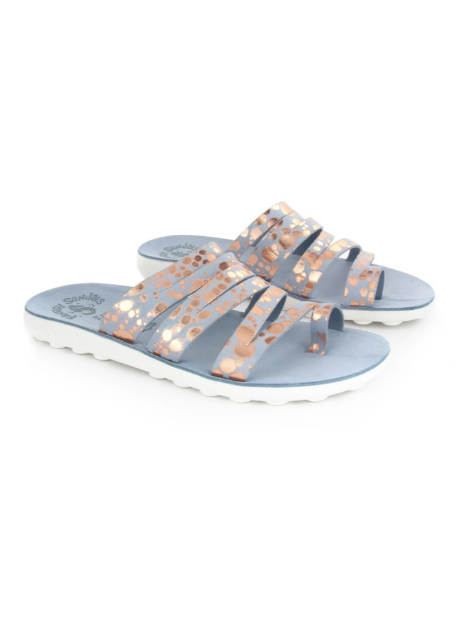 Flat Spotted Strappy Sandal MARA