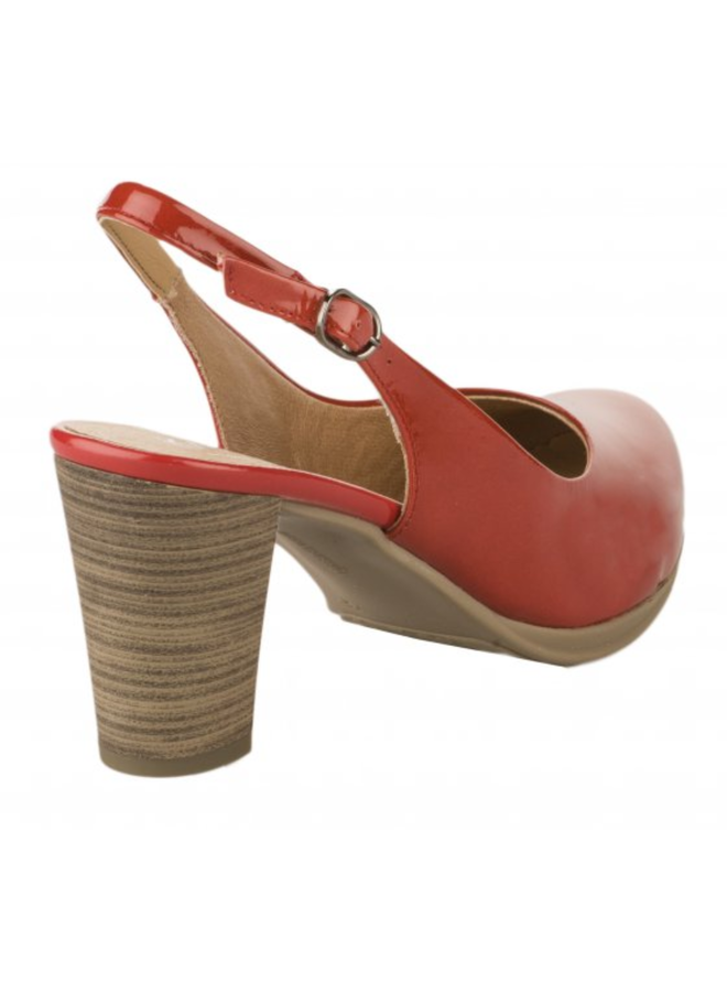 "Slingback Pump with 2.5"" stack heel LOST"