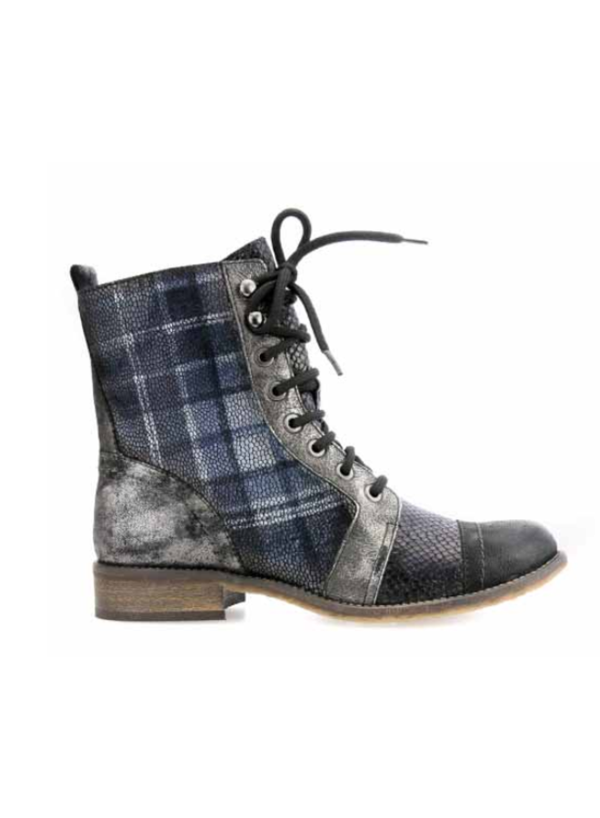 Plaid Bootie w/side zip LIBERTY 79840