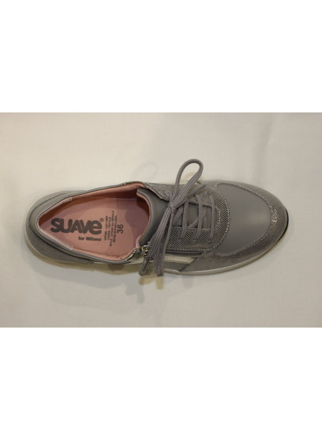 """Wedge 1.5"""" sneaker with laces and zipper opening VERONA 11001t"""