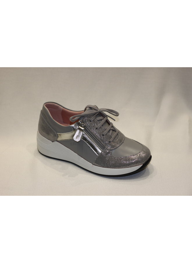 "Wedge 1.5"" sneaker with laces and zipper opening VERONA 11001t"