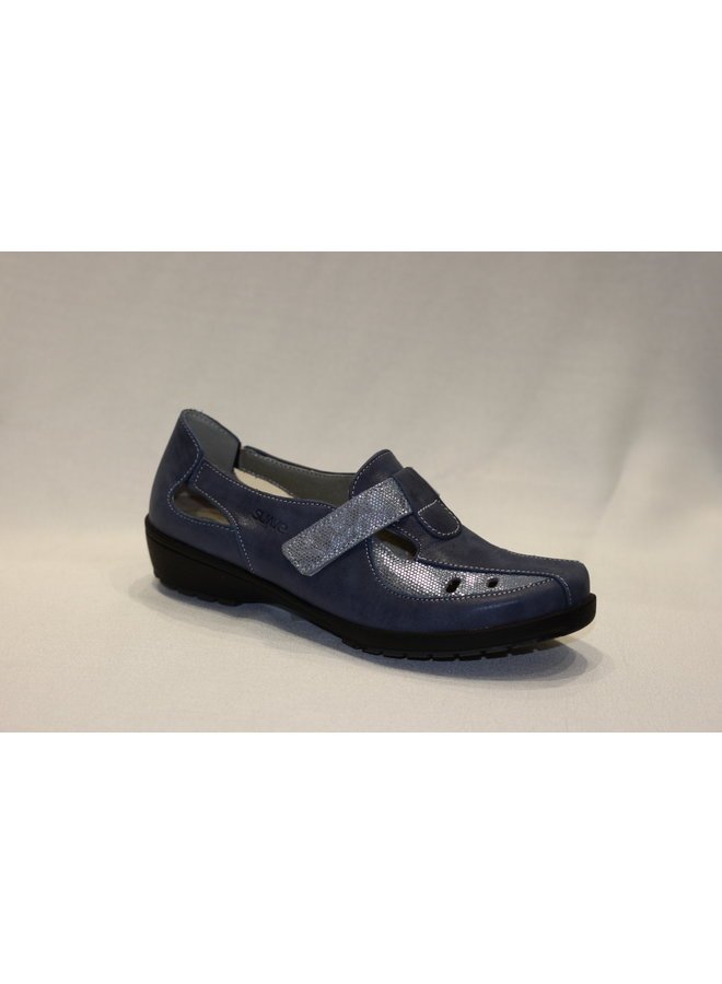 Wedge mary-jane with velcro closure LONDON 8051