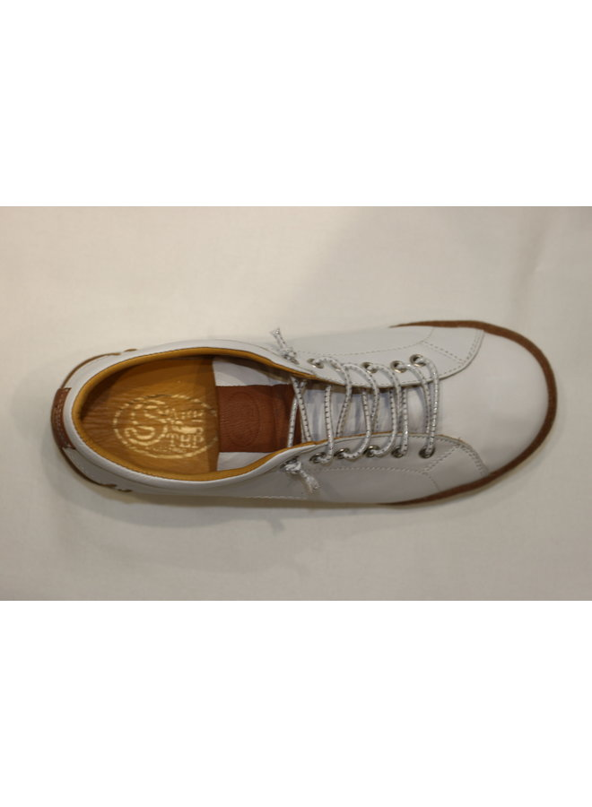 Wedge leather sneaker 18403