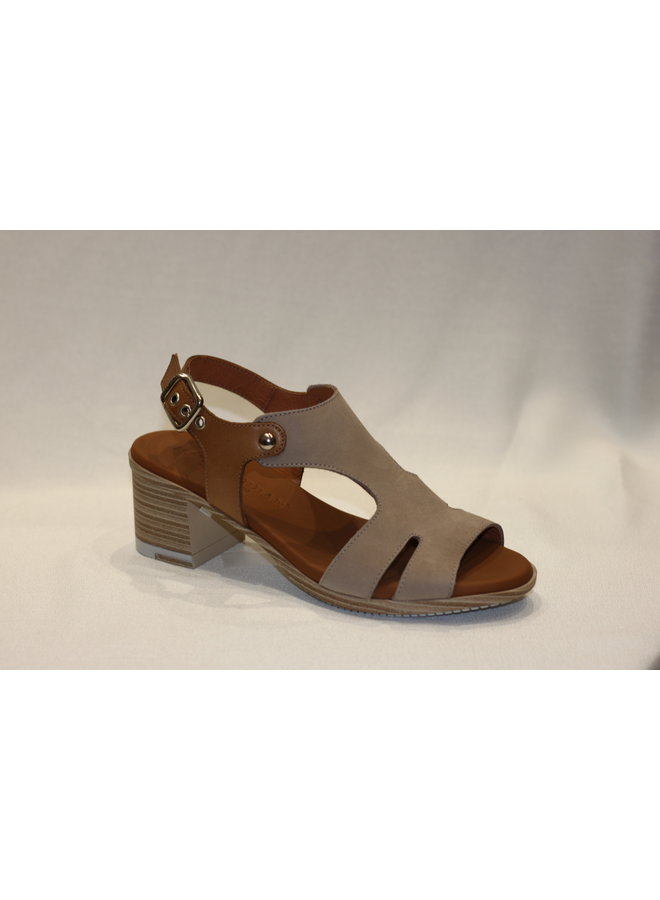 Stack heel open toe sandal 14-79