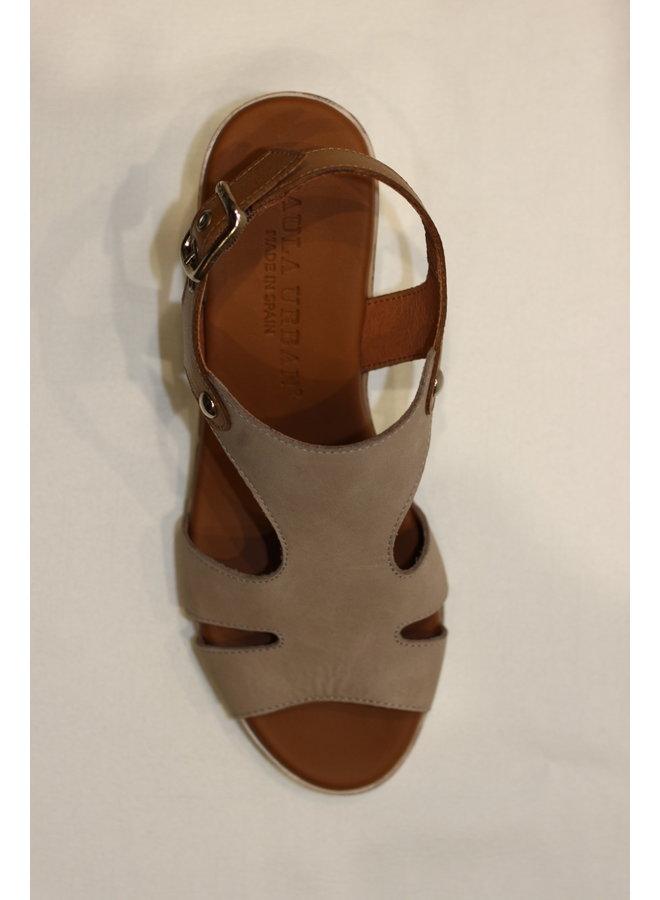 Stack heel open toe sandal 14-79