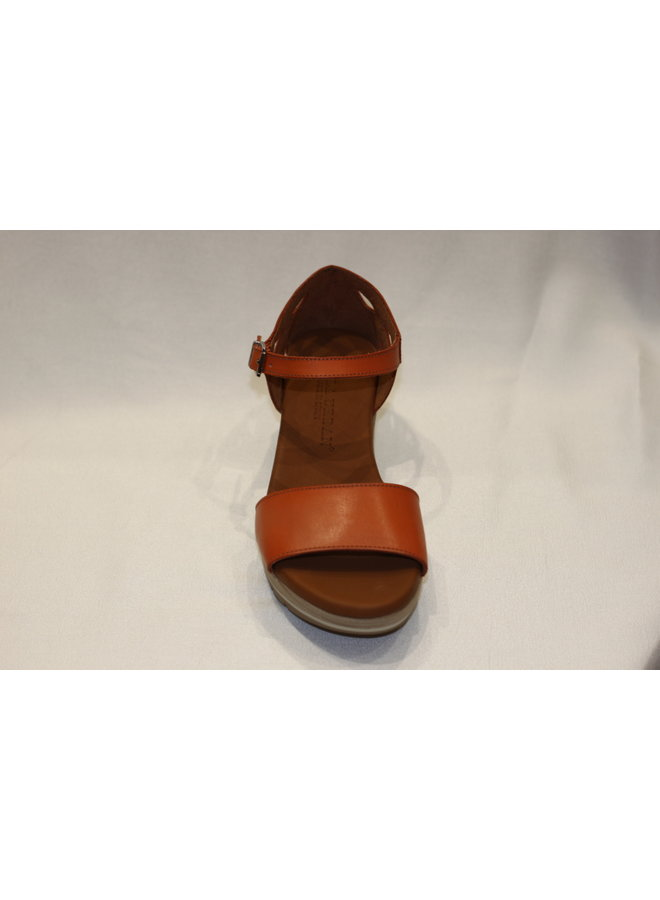 Wedge closed back open toe sandal 1-825