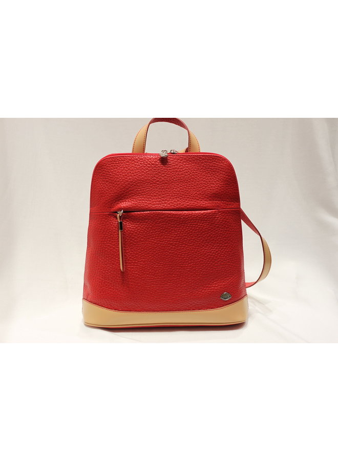 Midsize Contrast Flat Backpack 748153