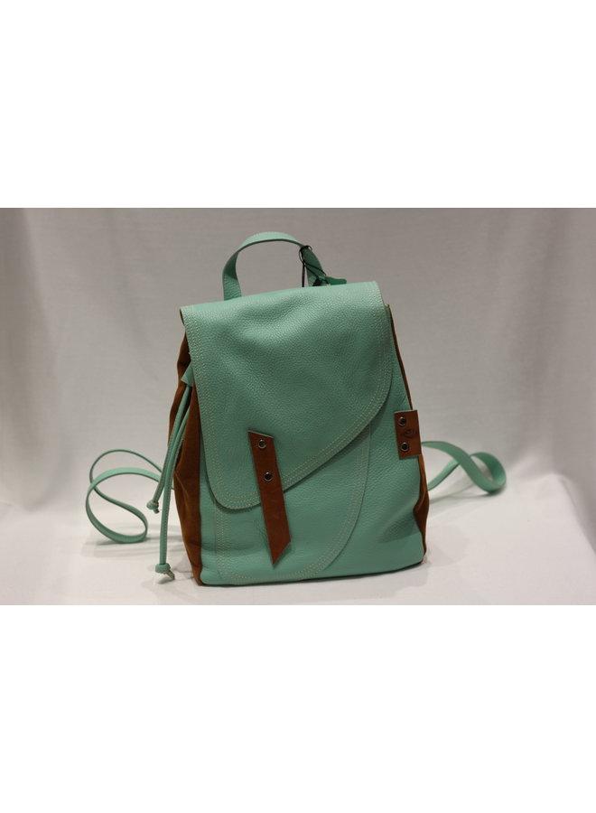 Midsize Contrast Flap Backpack DF402