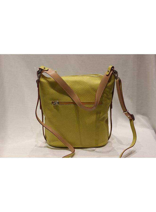 Midsize Contrast Bucket Handbag w/strap 748155