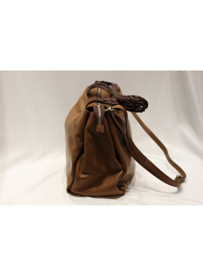Large Braided Tote Handbag w/strap 2464231