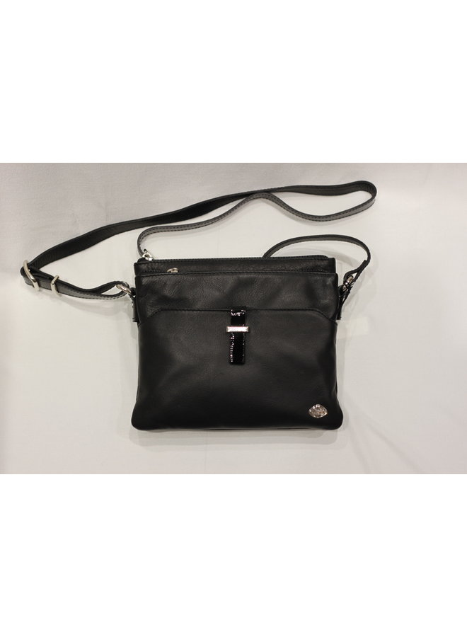 Small 2 pocket Crossbody Handbag 378066
