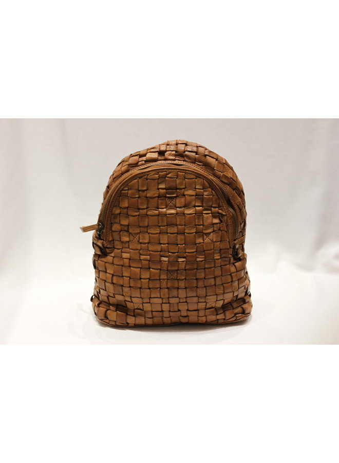 Midsize Rounded Weave Backpack 350556