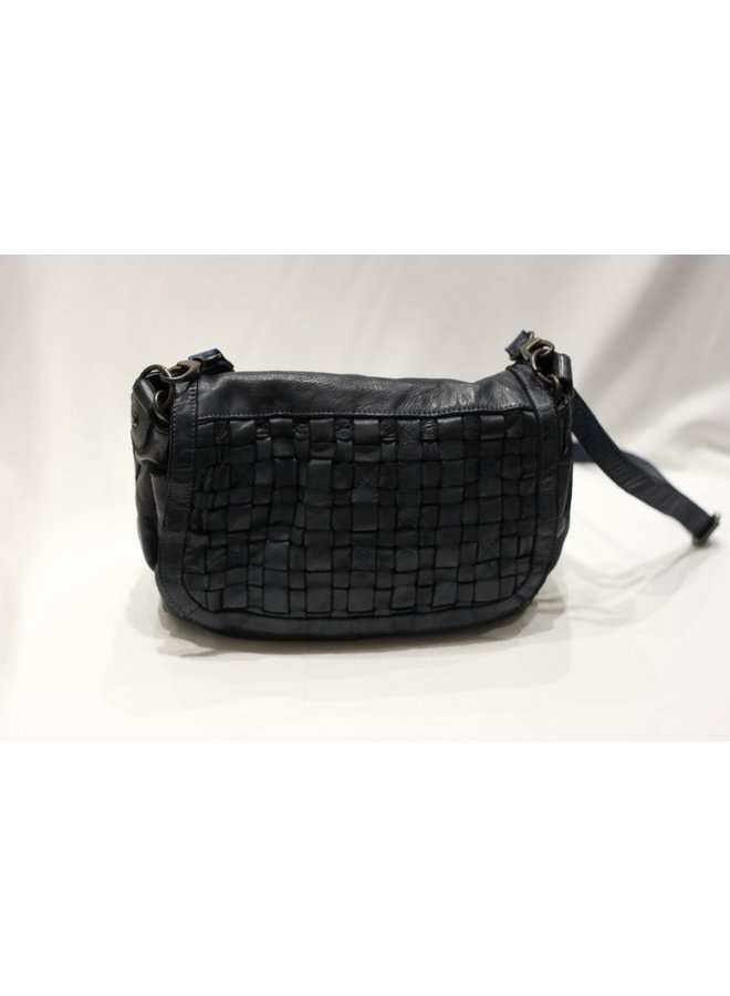 Midsize Weave Flap Crossbody Handbag 4503836