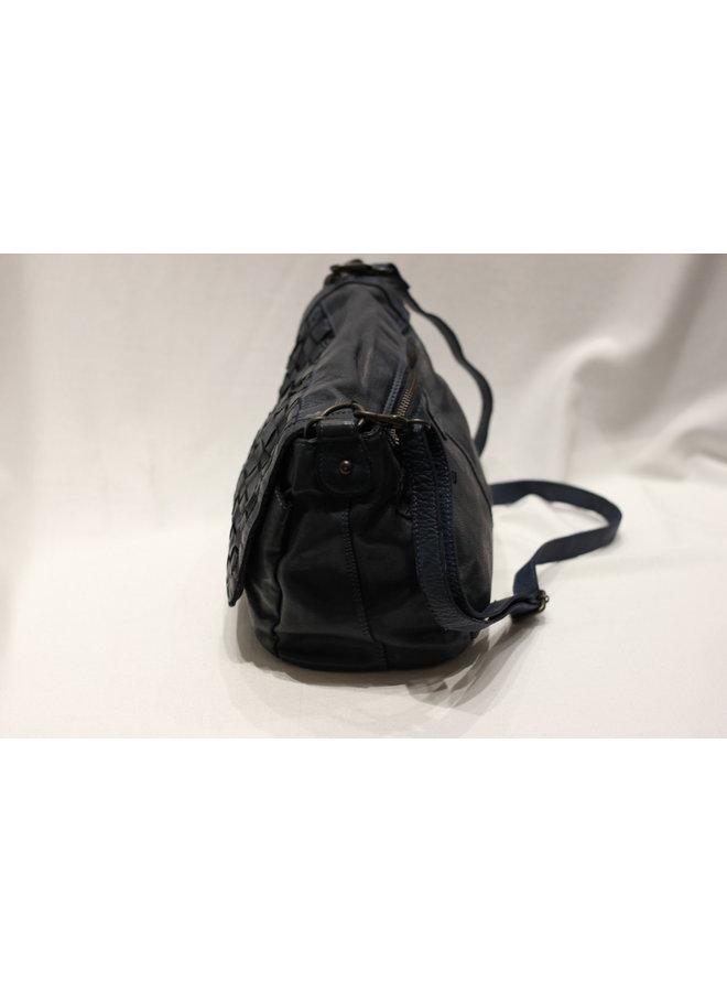 Midsize Weave Flap Crossbody Handbag 4503836
