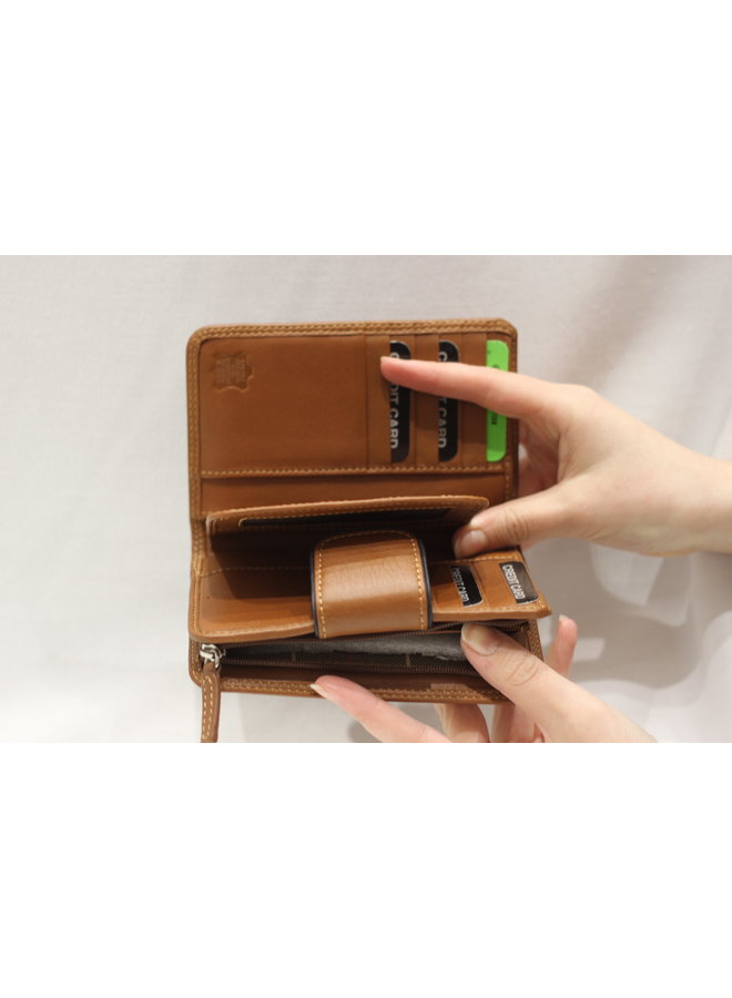 Wallet 3/4 w/snap and coin 588356