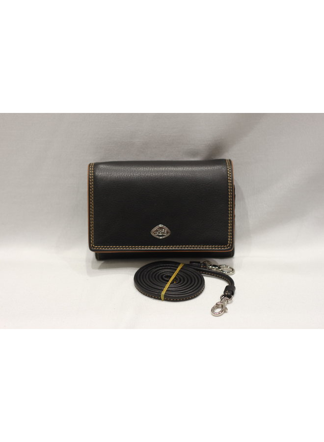 Wallet 3/4 w/crossbody strap and coin 588395
