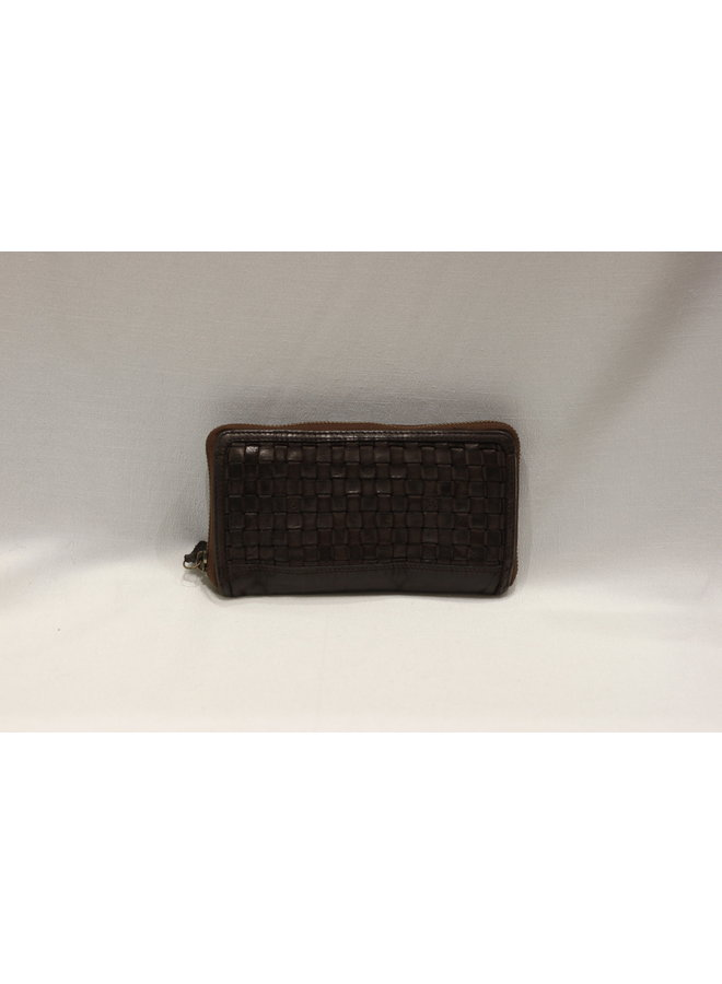 Weave Wallet fully zipped w/2 sections 4508106