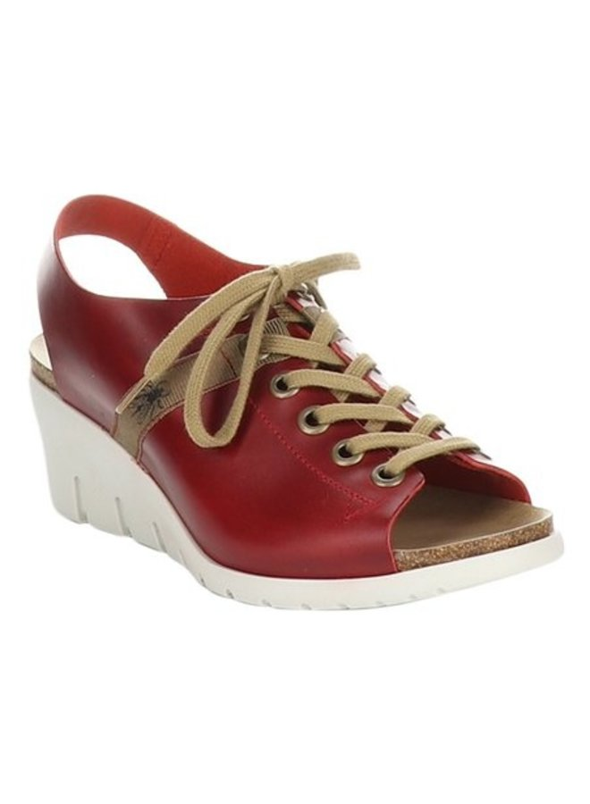 Lace-Up Leather Wedge IANT