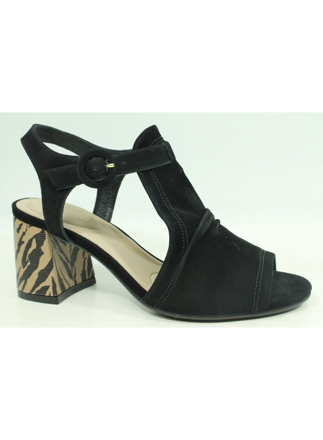 "Nubuck upper sandal with 2"" stack heel FABLE-91"