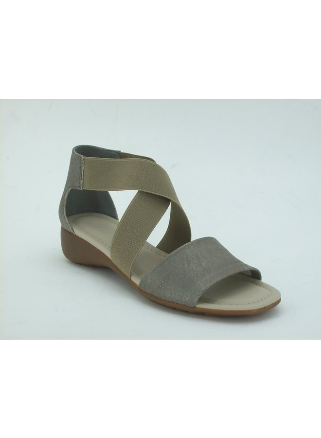 Criss Cross elastic and leather sandal SUNGLASS TOO