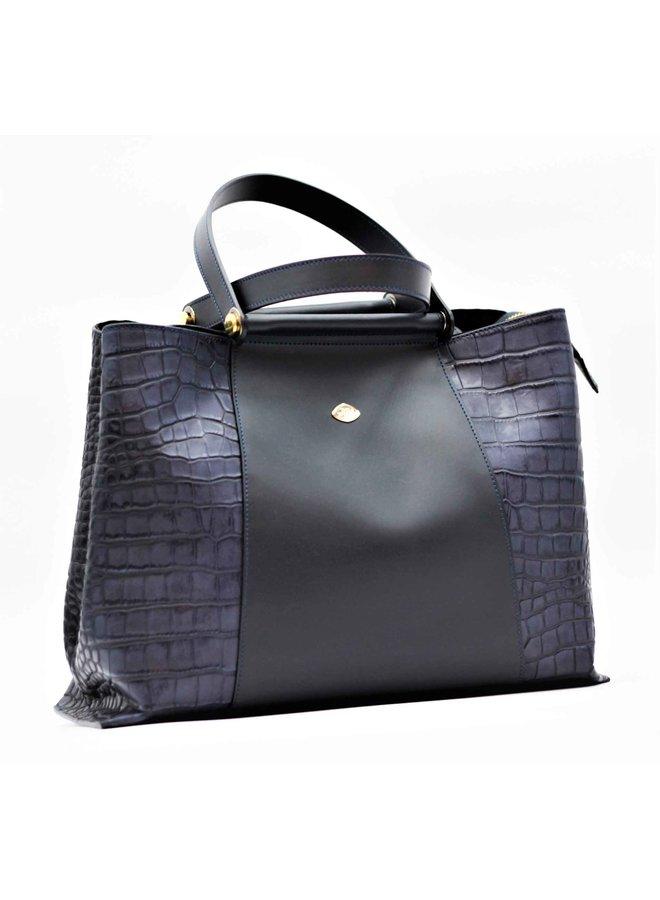 Large Croco Tote Handbag 566