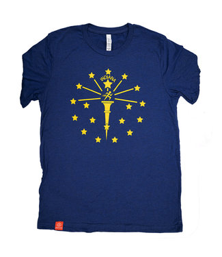 ATHLETIC ANNEX Unisex Indiana Flag Tee