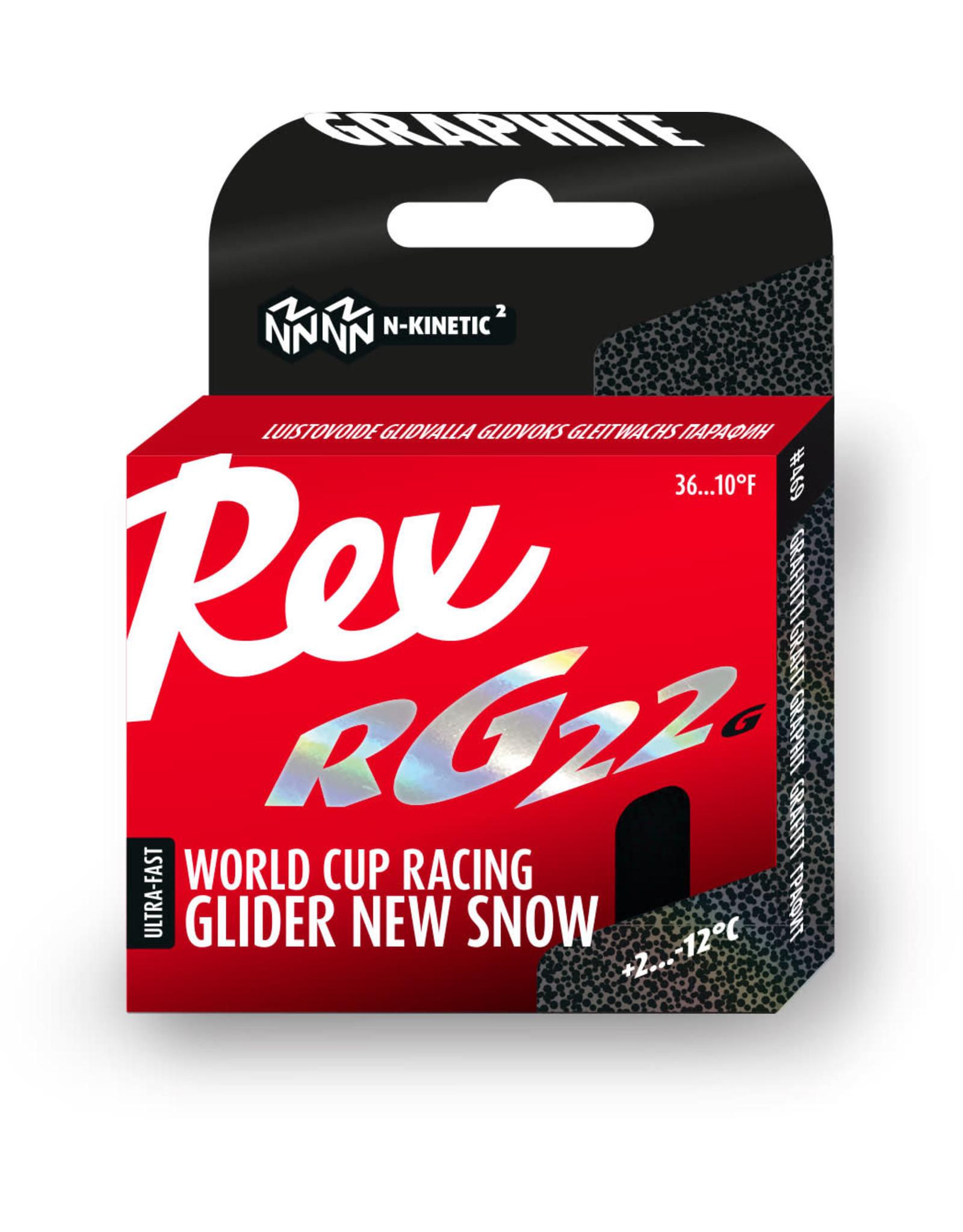 """Rex Rex Glider RG22 Graphite """"New Snow"""""""