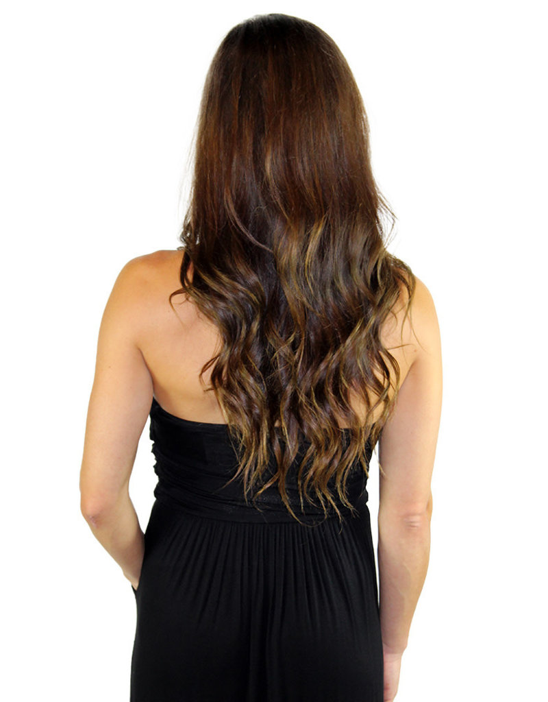 STRAPLESS DRESS- Black and Gray