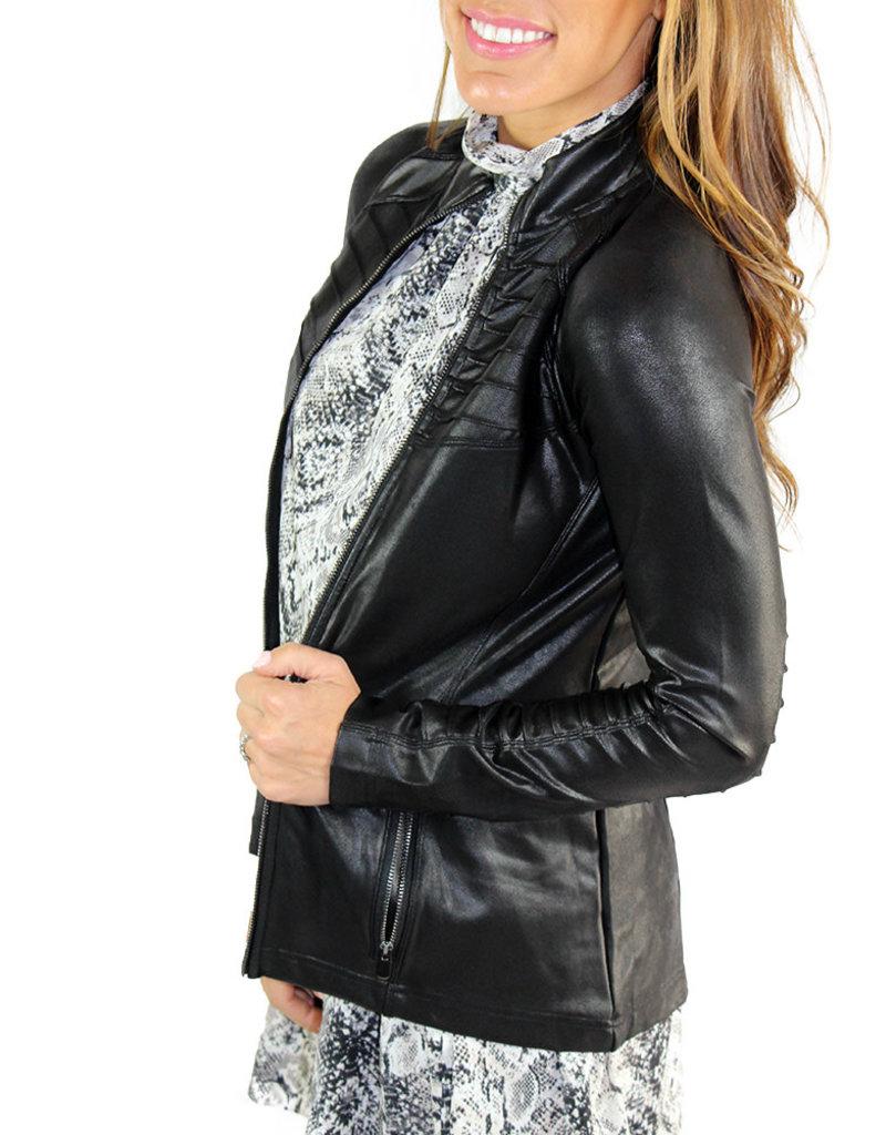 Faux  Leather Spanx Moto Jacket