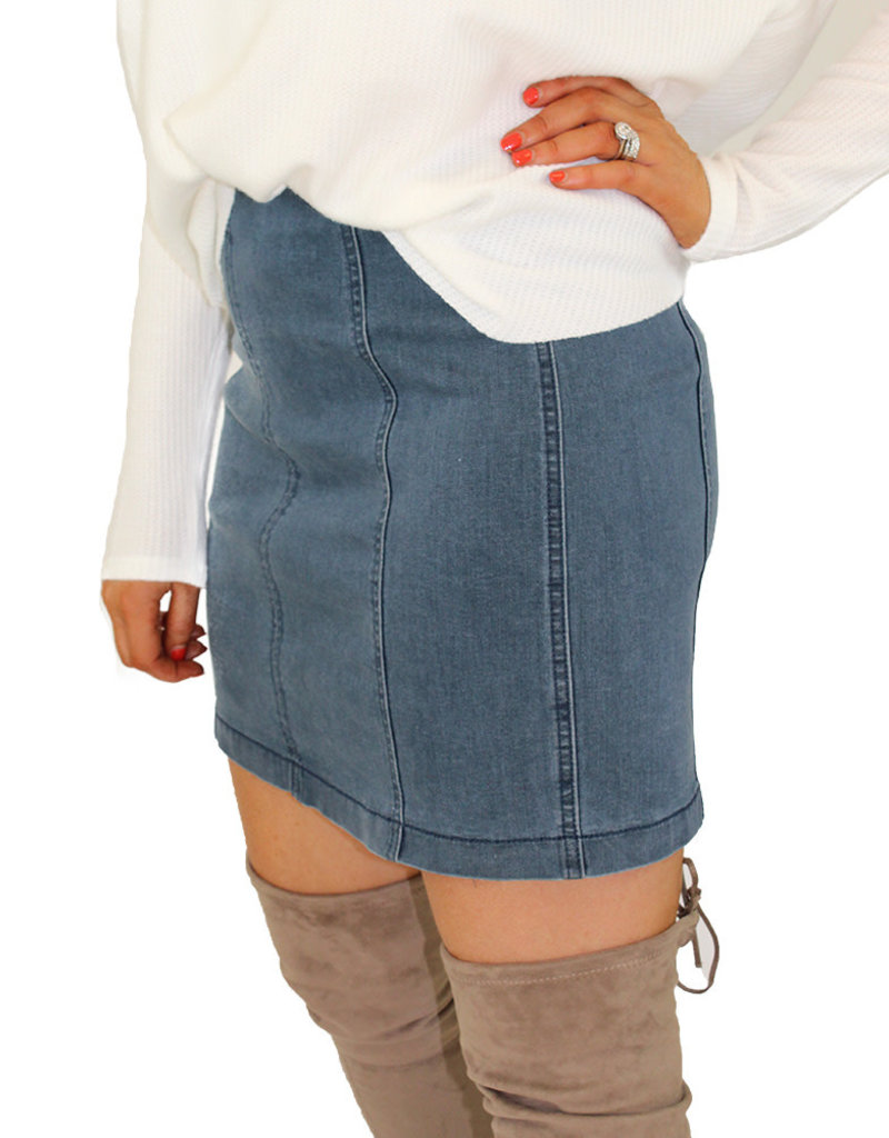 PARKER STRETCH DENIM SKIRT