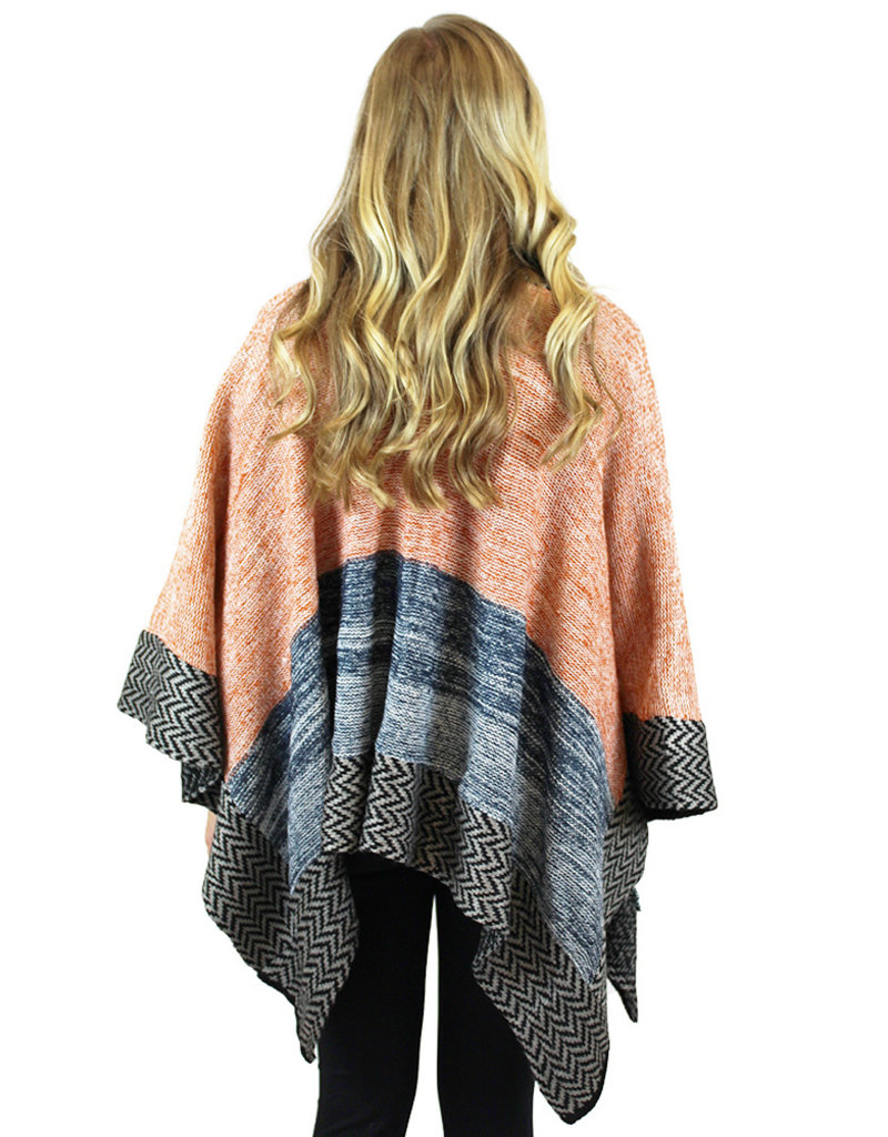 SWEATER WRAP-Red or Peach