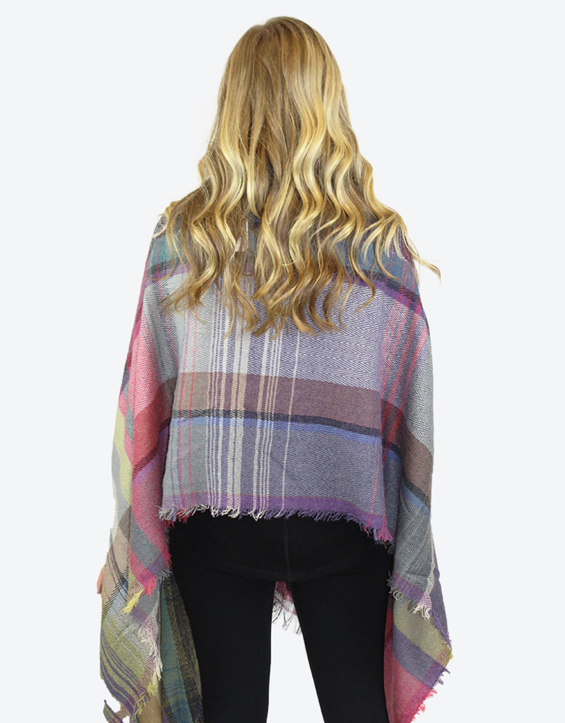 PLAID WRAP- Two Colors Available!