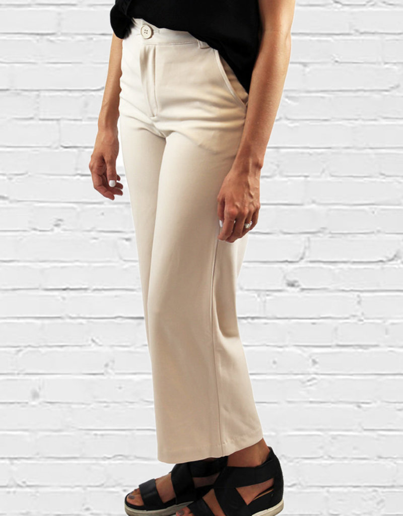 CARSON WIDE LEG PANT-Bone or Black