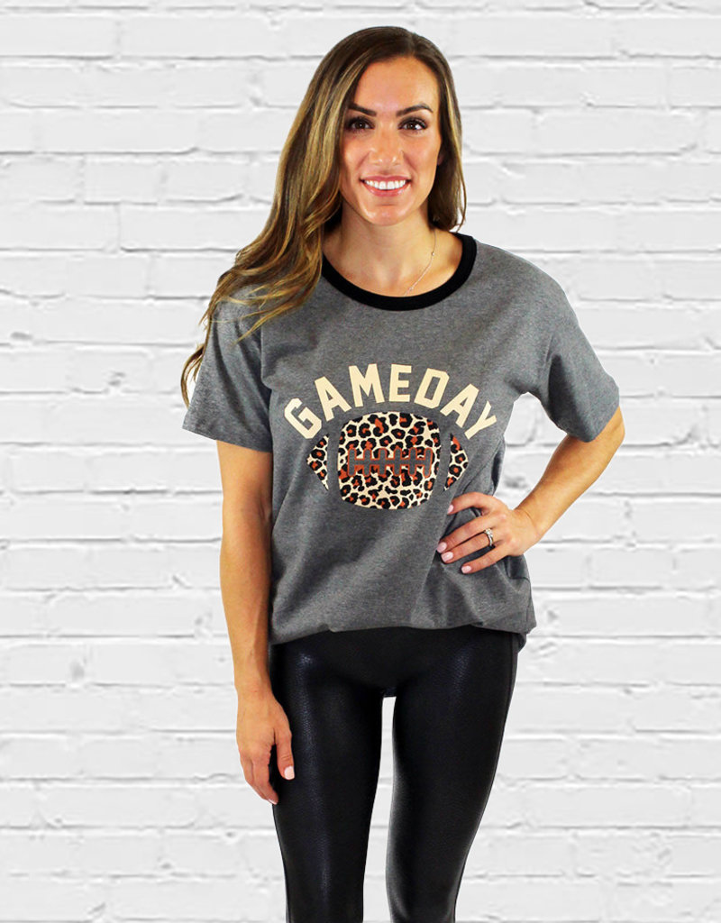 GAME DAY SS LEOPARD TEE