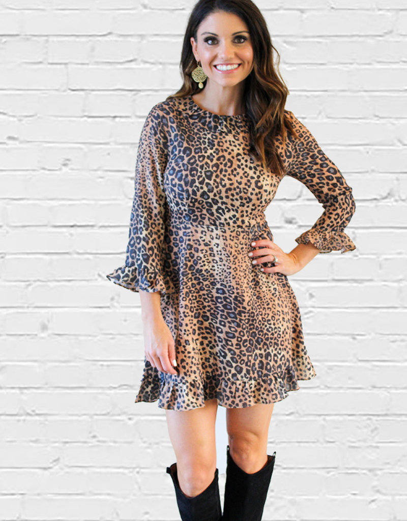 CLAIRE LEOPARD DRESS