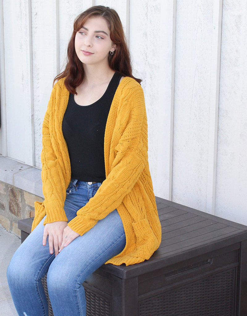 RELAXED FIT CARDY-Mustard & Rust