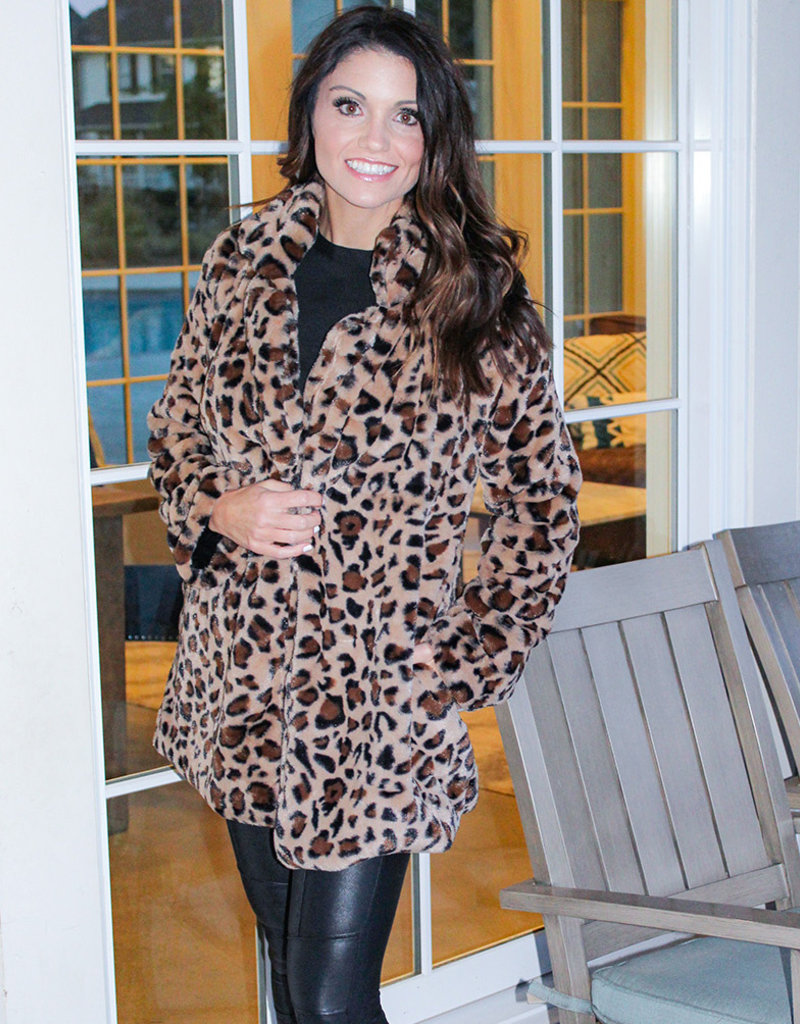 LEOPARD COZY COAT